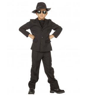 Déguisement gangster noir garçon