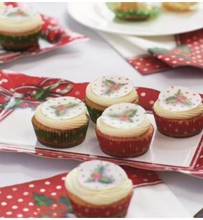 12 Décorations pour gâteaux comestibles Noël