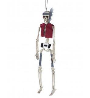 Décoration à suspendre squelette pirate Halloween