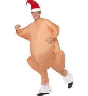 Déguisement dinde gonflable adulte Noël